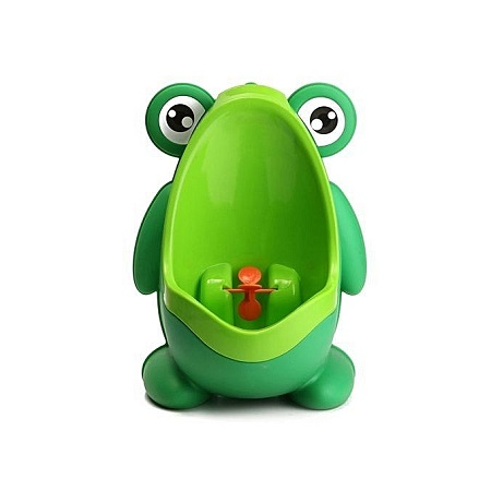 Frog Children Potty Toilet Training Urinal Kids Boys Pee Trainer -Green