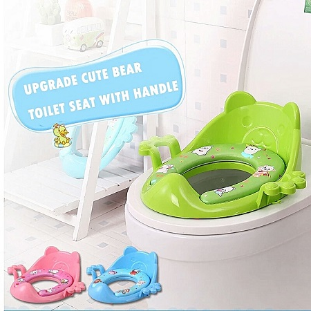 Portable Baby Potty Toilet Seat With Auxiliary Soft Toilet Cover