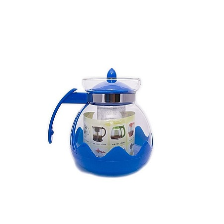 1.5 liter Glass Tea pot with filter-Blue