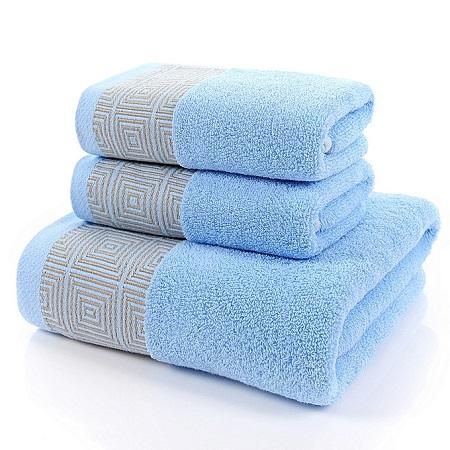 Bath Towel Set-3 Pieces-Blue