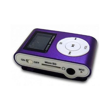 MP3 Player With Display and FM - Purple