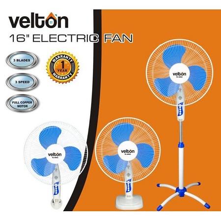 VELTON 16 Inch 3-In-1 Fan (Stand, Table, Wall) VSF- 40602