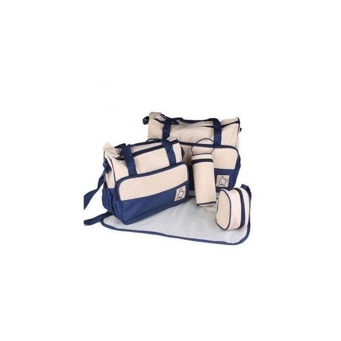 Baby Bear Club Shoulder Diaper bag- Blue.