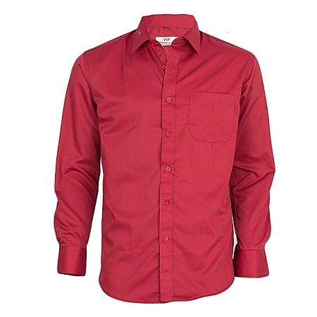 Maroon Long Sleeved Formal Shirt
