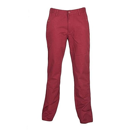 Maroon Slim Fitting Soft Khaki Pants