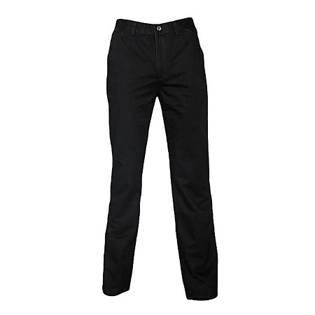 Black Slim Fitting Soft Khaki Pants
