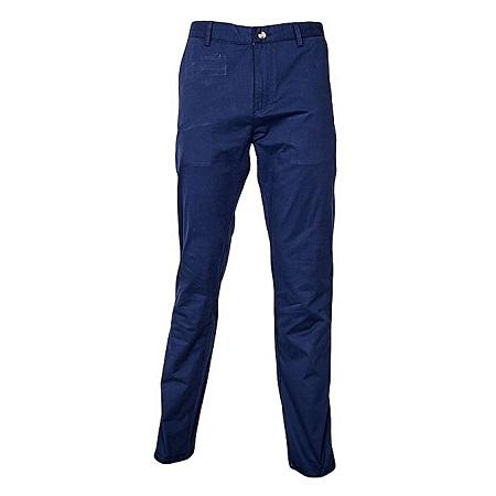 Navy Slim Fitting Soft Khaki Pants