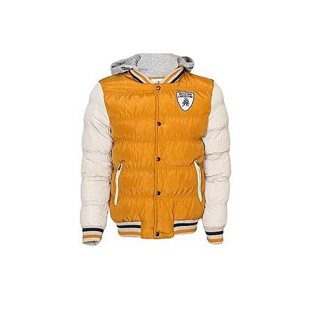Camel/Off White Puff Jacket - Slim Fitting (order big size)