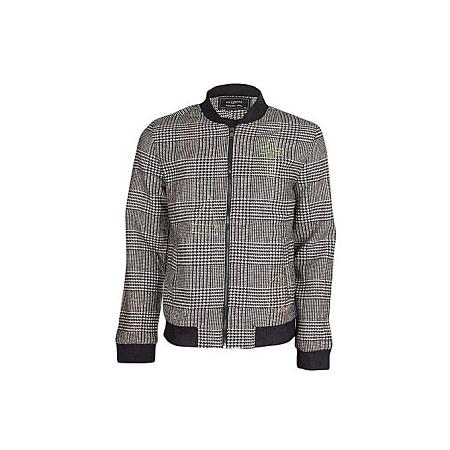 Beige Printed Jacket - Slim Fit