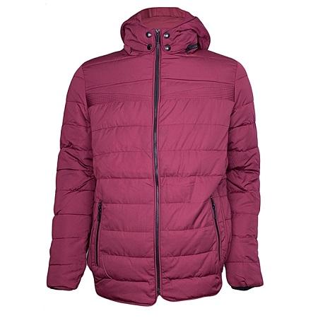 Maroon Puff Jacket With Detachable Hood