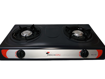RECKON EPOXY COATED NONSTICK GAS STOVE WITH DOUBLE BURNER / 2 BURNER