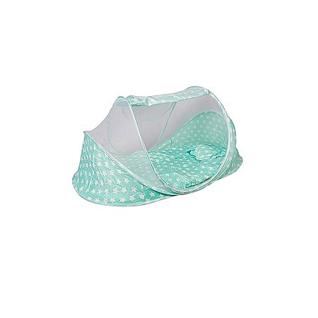 Large Unique new design baby nest / Mosquito net - green with stars