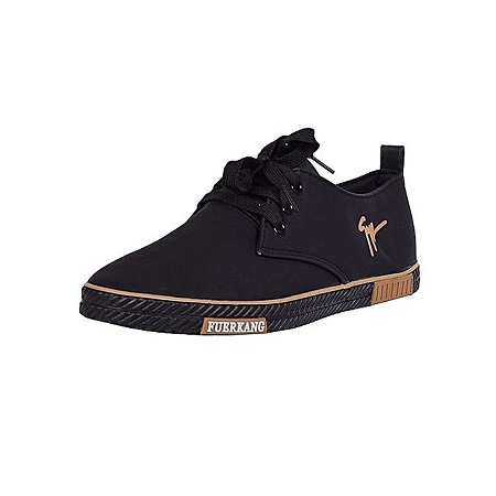 Black Sneakers Rubber Sole (classic casual) Trendy Shoes.