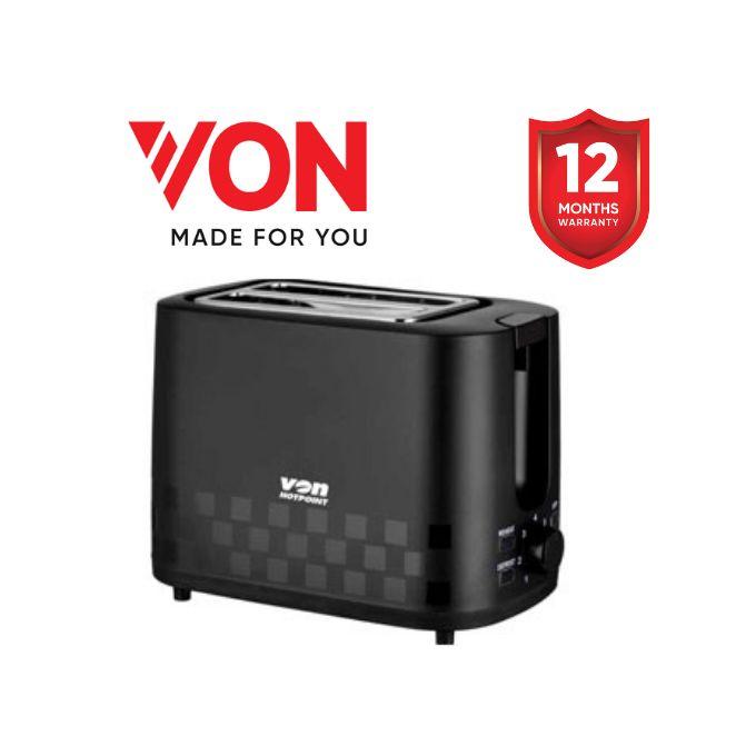 VON HT232DK/VSTP02MDK 2 Slice Toaster - Black