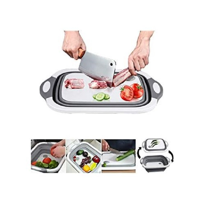 Generic 3 In 1 Collapsible Chopping Board, Basket And Rack
