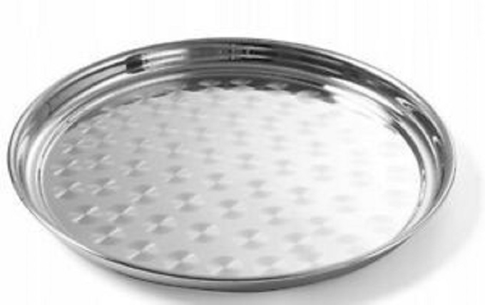 Generic round Stainless Steel Tray 35CM