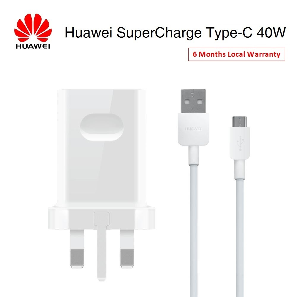 ORIGINAL Huawei 40W SuperCharge 4.5A/5A Type-C Cable & Charger