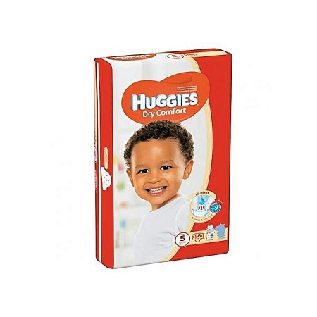 Huggies Dry Comfort Diapers, Size 5 (12-22kgs) ,56 Count