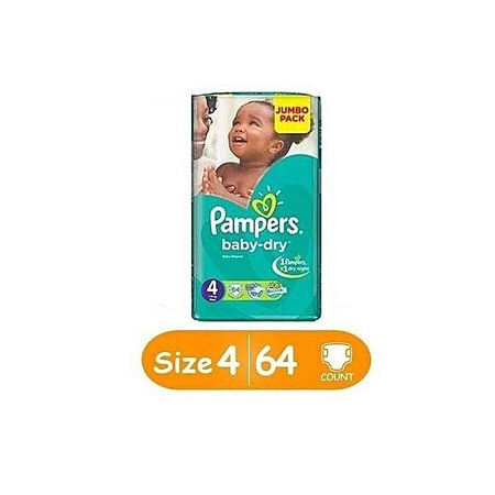 PAMPERS Diapers, Baby Dry - Jumbo Pack (Count 64
