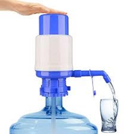 Handpress Water Dispenser, Water Pump For Bottled Water Blue + Blue
