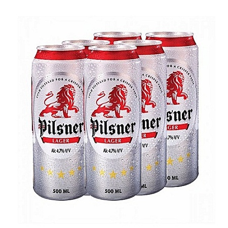 Pilsner Can 500ml - 6 Pack