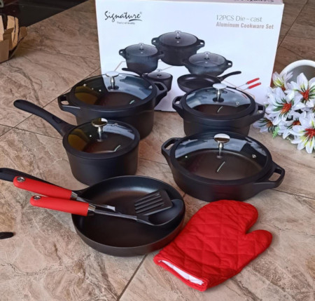 High Quality 12pc Die Casting Cookware Signature Set