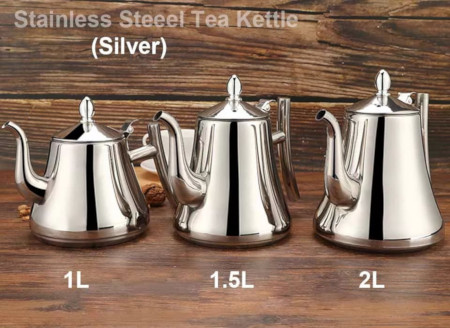 High Quality Stainless Steel Kettle With A Removable Infuser Mesh Filter Inside