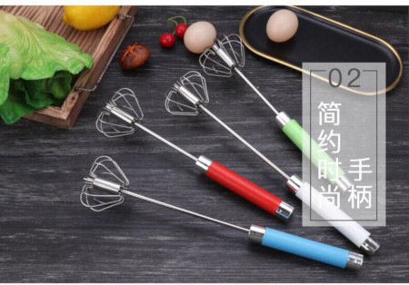 Household Manual Rotary Whisk Butter Mixer