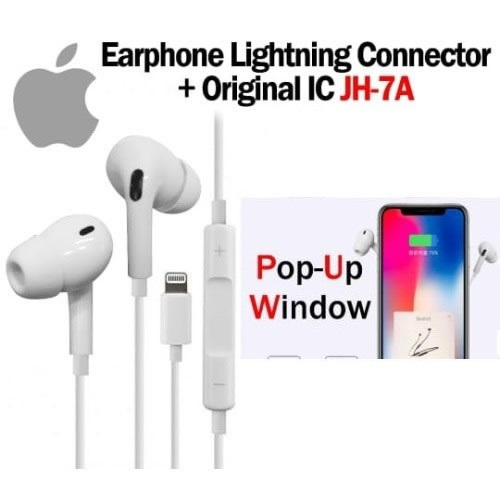 Apple Headset Earpods For Iphone 7/8 / X / Xs / Xr / 11 With Pop Up Window Bluetooth