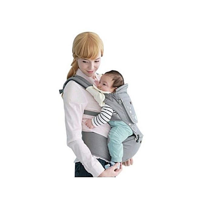 Breathable Hipseat Baby Carrier - Grey (upto 18kgs)