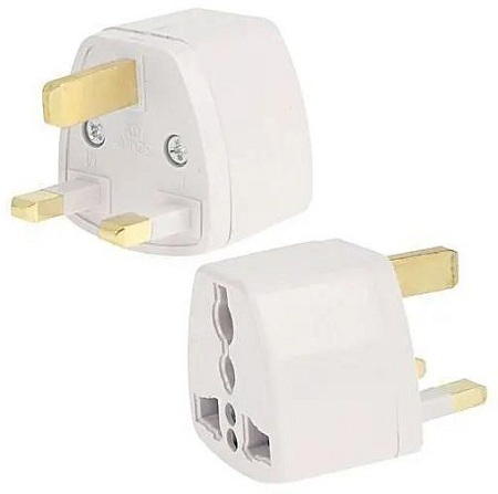 2PCS Plug Adapter, Travel Power Adaptor white