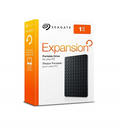 Seagate 1TB Expansion USB 3.0 Portable External Hard Drive