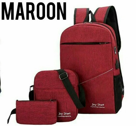 Fashion 3 in 1 bag Fashionable Backpack