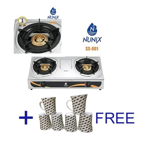 Nunix Gas Stove Double Burner