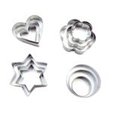 Baking Moulds Stainless Steel Cookie Cutters Plunger Biscuit DIY