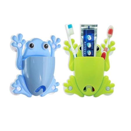 Blue Frog tooth brush holder