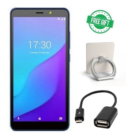 Tecno Pop 4, 6.0 Inch 3G, Dual, (32+2)GB,5000MAh-Dawn Blue+ Free RING&OTG