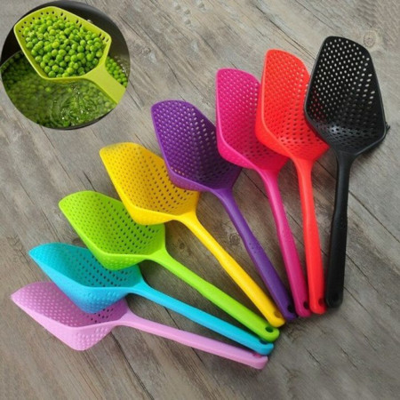 Colander Scoop Spoon Cooked Food Strainer Pasta Vegetable Rice Drainer