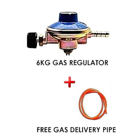 Gas Regulator Plus Gas Delivery Pipe (for 6Kg Gas Cylinder)