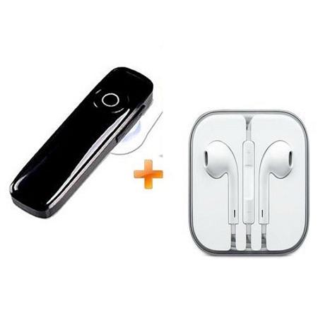 Generic Bluetooth Headsets Mini Wireless Earphones V4.0 - Black, Get Free Earphones For