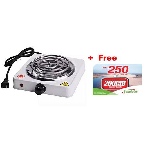 Generic Electric Cooker / Single Sprial Hotplate Plus Free Safaricom 250 Airtime