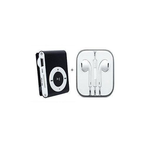 Generic MP3 Player With free iPhone High Quality Ear Pods - Black