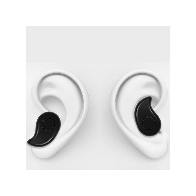 Generic Mini Wireless Bluetooth Earbuds Invisible Earphone - BLACK