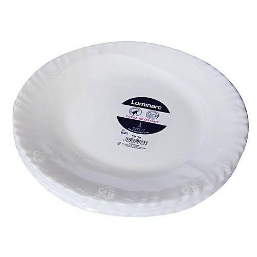 Luminarc 6 Pcs Dinner Plates + 6 Pcs of Cups - White