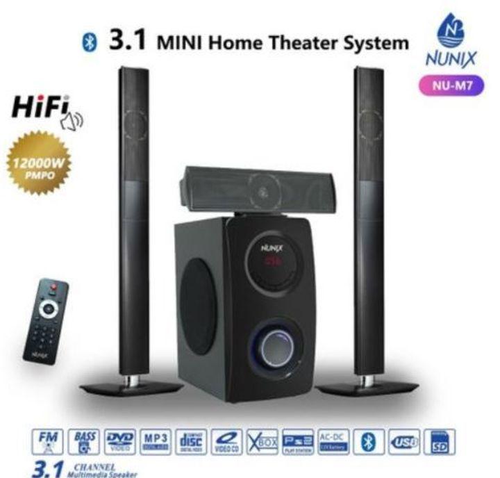 Nunix 3.1Ch MINI Home Theater System Black