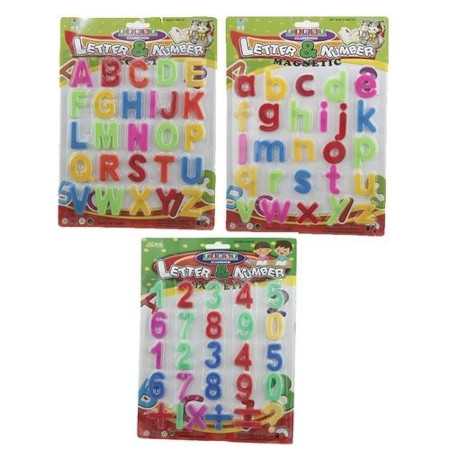 Magnetic Letters and Numbers for Kids Puzzles and Educational Fun- Refrigerator, Fridge Magnets-68 Pieces