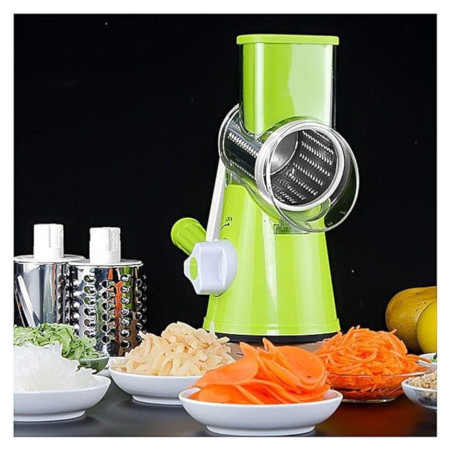 Manual Vegetable Rotary Cutter, Grater, Grinder, Shredder & Slicer