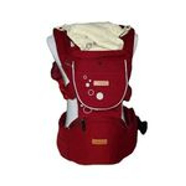 Breathable Baby Carrier with Hip Seat Red Large
