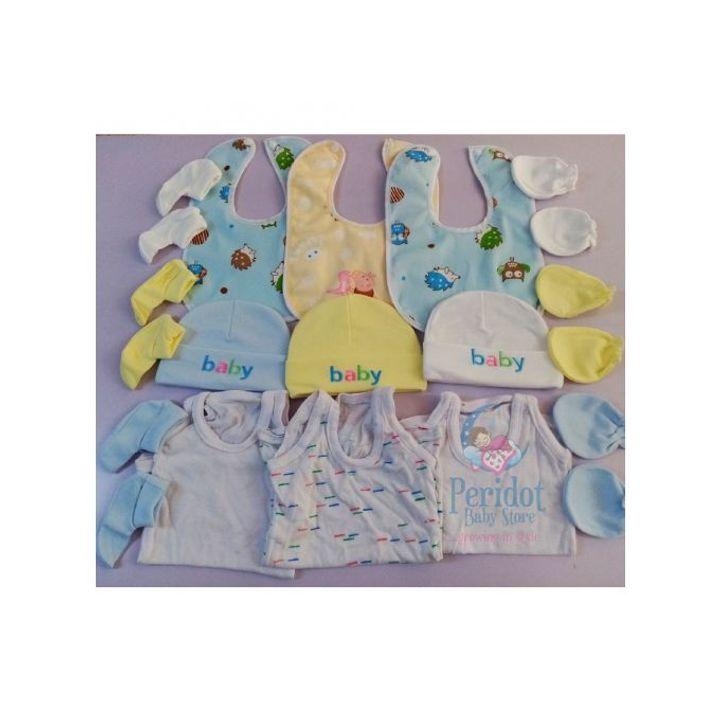 NEW BORN SET/ BABY RECEIVING SET assorted colours 15pcs
