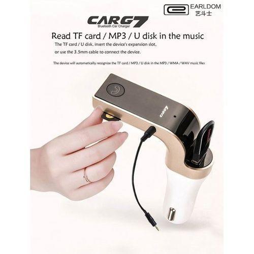 Carg7 Car Modulator Bluetooth Charger Mp3 Player